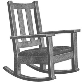 how to draw a rocking chair