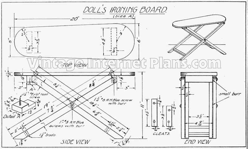 Wooden Ironing Board Plans Wooden Designs